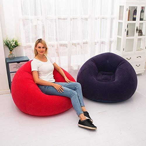 AMTSKR grote opblaasbare bank stoel bonentas Flocking PVC Garden Lounge zitzak volwassen outdoor meubels Camping Backpacking Reizen