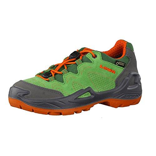Lowa Diego GTX Lo, Chaussures de Randonnée Basses Garçon Mixte Enfant, Grün (Brown/Arancio 7002), 25 EU