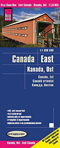 Reise Know-How Landkarte Kanada Ost / East Canada (1:1.900.000): reiß- und wasserfest (world mapping project)