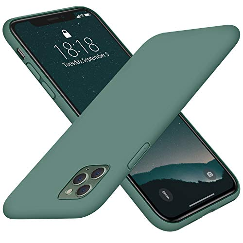 """DTTO Compatible with iPhone 11 Pro Case, [Romance Series] Full Covered Silicone Cover [Enhanced Camera and Screen Protection] with Honeycomb Grid Cushion for iPhone 11 Pro 5.8"""" 2019,Midnight Green"""