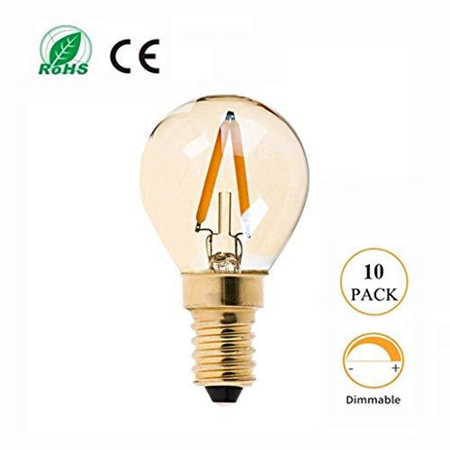 Lichtbron LED dimming lamp-lamp, retro bruin G40 lichtbron, E12 / E14 lampfitting, hoofddecoratie kroonluchter wandlamp tafellamp buiten - 10 stuks [energieklasse A +]