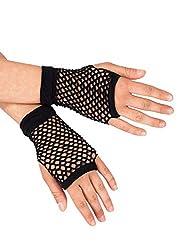 Theatricals Short Fishnet Gloves, C26991BLK