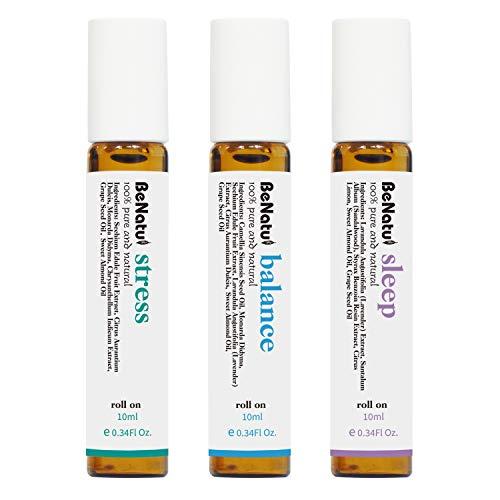 Benatu - Juego de aceites de aromaterapia con aceites esenciales para dormir (con estrés, equilibrio) para relajarse profundamente.