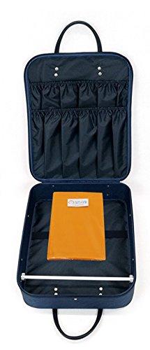 着物バッグ (外ポケットありで便利) wk-211 着物かばん 外ポケットありで便利 和装ケース 防水加工 日本製 (紺)冠婚葬祭
