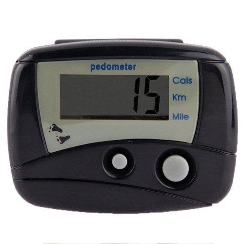 JSANSUI Countdown-Stoppuhr-Timer Multifunktions-Digital-elektronischer Schrittzähler Pedometer (Color : Black)