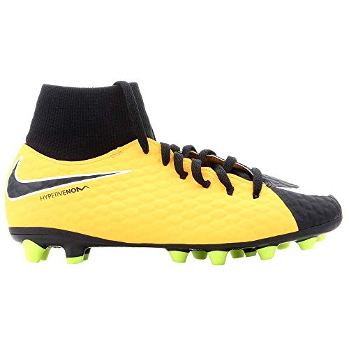 Nike Unisex-Kinder Jr. Hypervenom Phelon 3 DF AG-PRO Fußballschuhe, Orange (Laser Orange/Black-White-Volt), 38 EU
