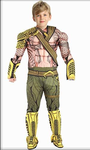 N-B Nueva Ropa de Carnaval para niños, Disfraz de Halloween de Aquaman Muscular para niños, Disfraz de Halloween para niños DC Liga de la Justicia, Cosplay de superhéroe
