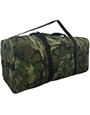 "Heavy Duty Cargo Duffel Large Sport Gear Drum Set Equipment Hardware Travel Bag Rooftop Rack Bag (30"" x 15"" x 15"", Camouflage)"