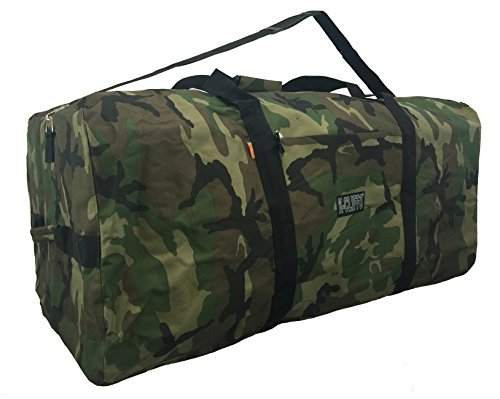 Heavy Duty Cargo Duffel Large Sport Gear Equipment Travel Bag Rooftop Rack Bag (36 inch, Camo)