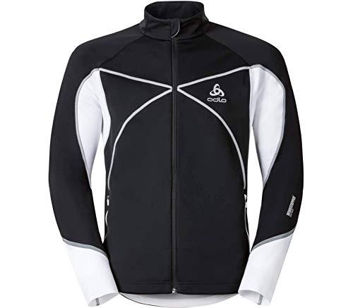 Odlo Herren Jacket Nagano X Windstopper Jacke, Black - White, XL