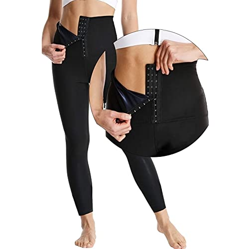 Fajas De Sudor De Sauna, Leggings De Cintura Alta Pantalones De Sauna De Sudor Para Mujeres, Pantalones De Yoga Deportivos Y Deportivos Tren De Cintura Corporal Térmica ( Color : Black , Size : XL )