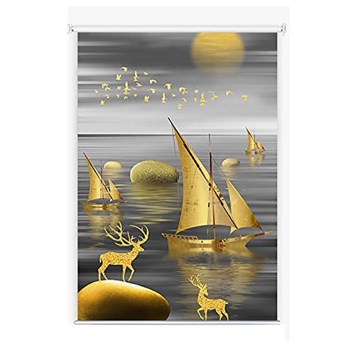QYQS Patio Shades Roll Up Outdoor Composito Finestra Fibra Sfumature e persiane Tende A Rulli A Mezza ombreggiatura Impermeabile ombrellone Dimensioni Personalizzabili(Size:80x160cm)
