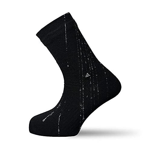 VER JARI Calcetines Impermeables Verjari | Interior de bambú | Negro (Negro, 43-46)