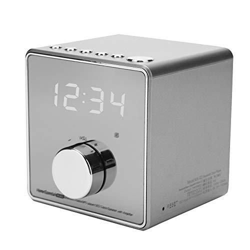 Seacanl Reproductor de música, Reloj Despertador de música de sobremesa de grabación portátil, Altavoz Bluetooth, con Radio FM incorporada para Soporte doméstico Tarjeta TF para(Gun Color)