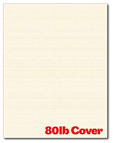 Schwerer Leinenstrukturkarton – 50 Blatt – blanko, dickes Papier für Inkjet-/Laser-Drucker (Natur)