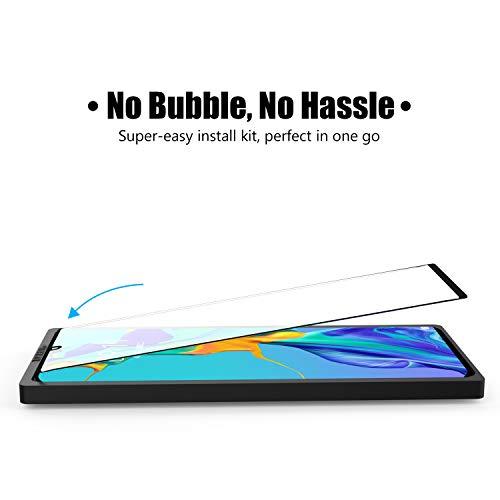 [2 Stück] Beyeah Displayschutzfolie für Huawei P30 lite Panzerglas, [Installationswerkzeug] [Perfekt Version] [Anti-Öl] [Anti-Bläschen] [lebenslange Garantie] (Schwarz) - 2