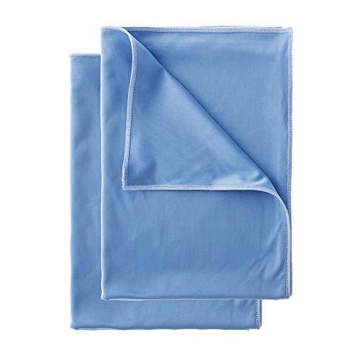 Loweé Poliertuch aus Matrixfaser - 50x70cm fusselfreie Poliertücher für streifenfreies Glas - Mikrofaser Glastuch (2er-Set)