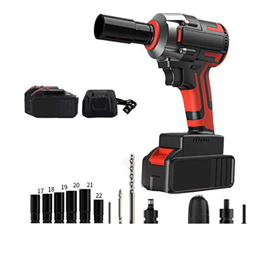 XDXDO 3-In-1 Professional Repair Impact Wrench, Portable Electric Pipe Wrench, with 2X3.0Ah Battery And 14X Accessories, Torque: 310Nm, Suitable for Car Repair