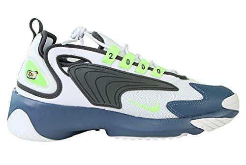 Nike Zoom 2K, Scarpa da Ginnastica Uomo, Blanco/Ghost Green/Iron Grey/Thunderstorm, 44.5 EU