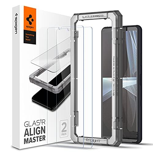 Spigen AlignMaster Panzerglas kompatibel mit Sony Xperia 10 iii, 2 Stück, Kratzfest, 9H Festigkeit Schutzfolie
