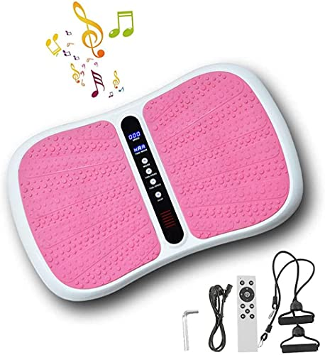 Lamand Vibración Placas de Fitness Entrenador Easy Storage Placa de vibración Vibración Slimming Machine Music Bluetooth Shake Machine-Polvo