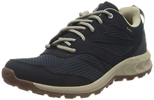 Jack Wolfskin Damen Woodland Texapore Low Walking-Schuh, Dark Blue/Beige, 43 EU