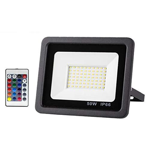 Newin Star Las Luces de Seguridad con Sensor de Movimiento LED Reflector al Aire Libre de 50W LED Proyector Impermeable de la iluminación para el jardín Patio Delantero del Garaje Pared del Patio