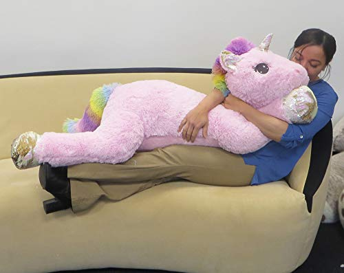 Jumbo Soft Plush, 51 Inch (Unicorn)