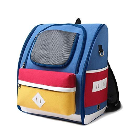 IAOHUO Haustier Rucksack, Cat Bag Out Tragetasche Cat Bag Hund Rucksack Cat Rucksack Raumkapsel Pet Bag Out Bag (Color : Blue)
