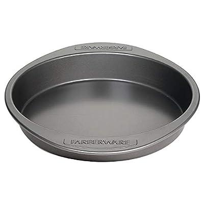 Farberware Nonstick Bakeware Baking Pan / Nonstick Cake Pan, Round - 9 Inch, Gray