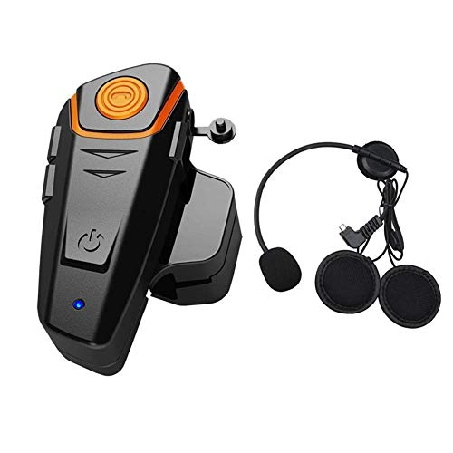 BT-S2 1000M Auricular Bluetooth Motocicleta Intercom Motorcycle Casco Intercom Interphone Auricular Bluetooth Ideal para Montar a Caballo/Esquiar(Cable Duro,1 Pieza)