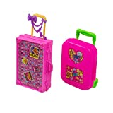 AUEAR, 2 Pcs Fashion Miniature Travel Hard Suitcase Box Reception Candy Reception Candy Doll Accessories Gift Luggage for Wedding Party Decoration