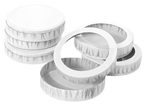 Folia Käseschachtel, Durchmesser 110 mm, weiß 985