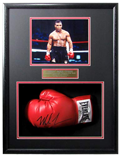 Mike Tyson Iron Mike Champ Signed/Auto Boxing Glove Shadow Box Framed JSA 154886