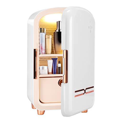 TELAM Mini Nevera de 12 litros, Mini refrigerador portátil para el Cuidado de la Piel para Almacenamiento de Maquillaje, refrigerador de Belleza portátil, refrigerador termoeléctrico