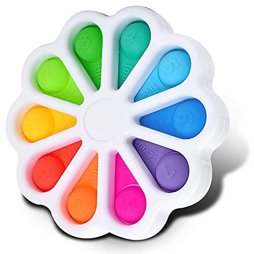 Funcare Fidget-Spielzeug mit Blume, Push-Pop-Blase, sensorisches Spielzeug, Lernspielzeug für Kinder und Erwachsene