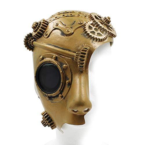 Máscara veneciana estilo steampunk, máscara mecánica de robot, máscara de Halloween, máscara de vapor punk fantasma de la ópera, vintage, mecánica, para hombre