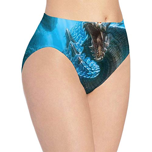 XCNGG Bragas Ropa Interior de Mujer 3D Print Soft Women's Underwear, Chinese Dragon Fashion Flirty Lady'S Panties Briefs Large