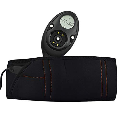 YHWD Cinturón Electroestimulador, Cinturon Vibratorio con 150 Niveles Intensidad Ejercicio, Cintura Abdomen Espalda Cadera, Activa Línea Muscular para Cintura, Abdomen, Espalda, Cadera