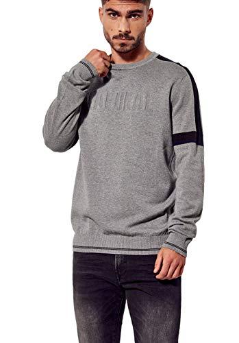 Kaporal - Pull régular Homme 100% Coton - Rio - Homme - S - Gris