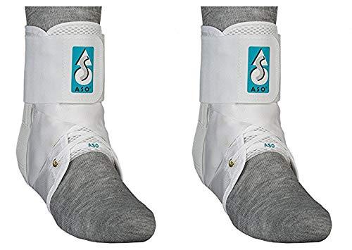 Med Spec ASO Ankle Stabilizer (Medium, 2 Pack, White)