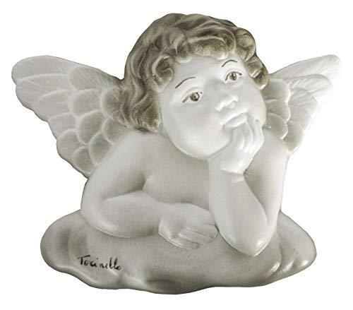 ARTEPACO - Ángel nube de pared, figura de cerámica, idea original como regalo, bombonera, objeto decorativo para la casa, altura 12 cm.