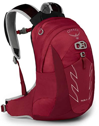 Osprey Talon 11 Jr Mochila infantil de senderismo, Unisex niños, Rojo (Cosmic Red), O/S