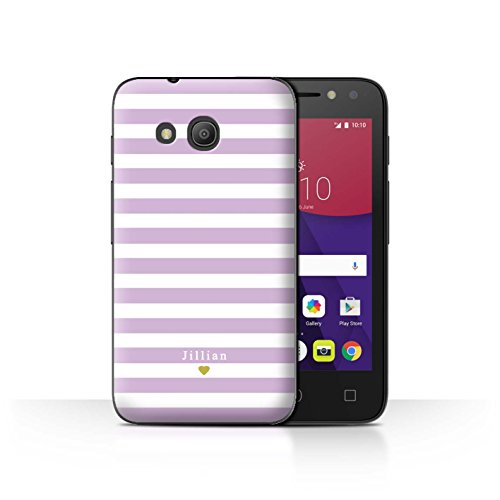 Stuff4Phone Case/Cover/Skin/alcpix44/Custom Stripes/Striped Collection Bébé Coeur Rose