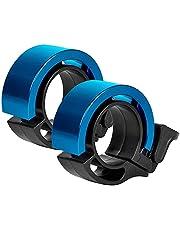 KNMY Aluminiumlegering fietsbel met luid, helder, helder geluid, racefiets- en mountainbike-bel voor volwassenen en kinderen (blauw)