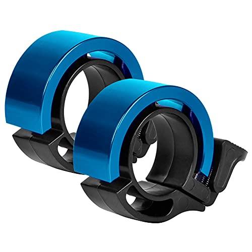 KNMY Timbre para bicicleta de aleación de aluminio con sonido claro y alto, para adultos y niños (azul)