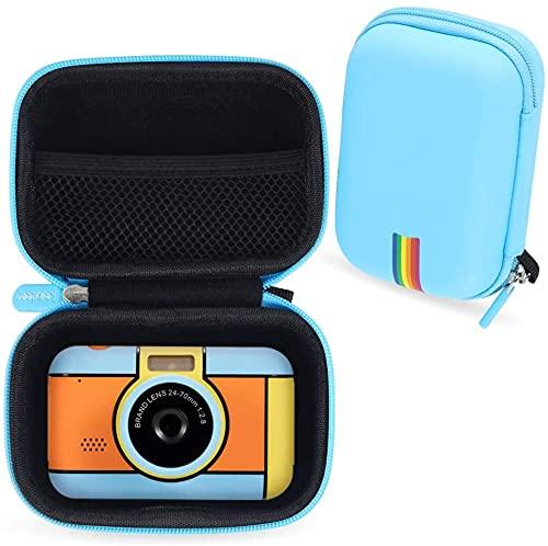 Custodia protettiva per fotocamera per bambini Leayjeen compatibile con YunLone ToyZoom, XDDIAS, con scheda SD da 32 GB, fotocamera per bambini da 2,4 pollici (solo custodia) blu