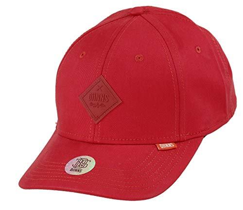 Djinns - Flex BasicBeauty (red) - True Fit Curved Visor Dad Cap Baseballcap Hat Kappe Mütze Caps