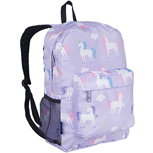 Wildkin Kids 16 Inch Backpack for Boys and Girls, Ideal Size for Kindergarten, Elementary, and Middle School, Perfect for School and Travel, 600 Denier Polyester, BPA-Free, Olive Kids (Unicorn)