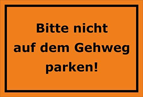 Melis Folienwerkstatt sticker schild - niet op trottoir parkeren - S00065-101-E 60x40cm – Aluverbundplatte – mit Bohrlöchern
